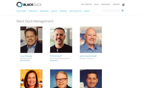 Screenshot of Team Page blackducksoftware.com - Black Duck Management   Black Duck - captured July 20, 2014