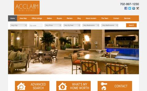 Screenshot of Home Page acclaimre.com - Rich Robledo - Acclaim Real Estate - captured Sept. 11, 2015