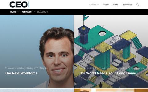 Screenshot of Team Page ceo.com - Leadership | CEO.com - captured Sept. 25, 2018