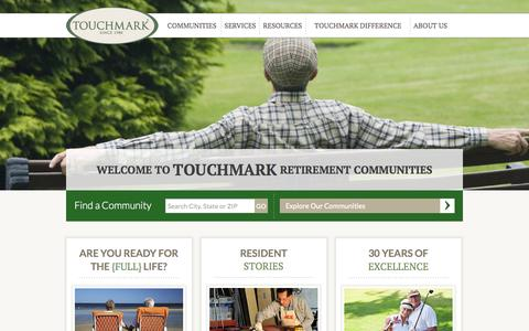 Screenshot of Site Map Page touchmark.com - Touchmark Senior Living - captured Oct. 7, 2014