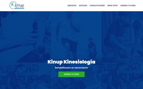 Screenshot of Home Page kinup.cl - Kinup Kinesiología - Tratamos todo tipo de alteraciones y patologías musculo-esqueleticas desde un enfoque global, - captured Dec. 10, 2018