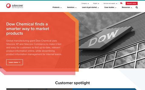 Screenshot of Case Studies Page sitecore.net - Customer Case Studies for Digital Marketing Systems | Sitecore - captured Sept. 2, 2017