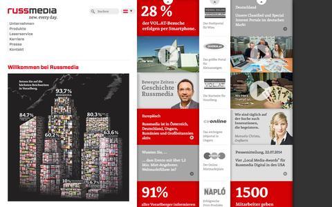 Screenshot of Home Page russmedia.com - Russmedia - captured Sept. 25, 2014
