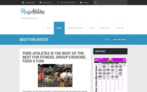 Screenshot of About Page Maps & Directions Page pureathletex.com - About Pure Athletex | Welcome to Pure Athletex Wexford, Pa - Pure Athletex SportsplexWelcome to Pure Athletex Wexford, Pa – Pure Athletex Sportsplex - captured Oct. 23, 2014