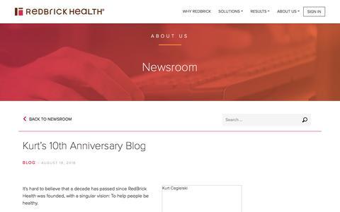 Kurt's 10th Anniversary Blog - RedBrick Health