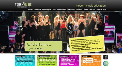 Screenshot of Home Page your-music.de - Start - captured June 10, 2016