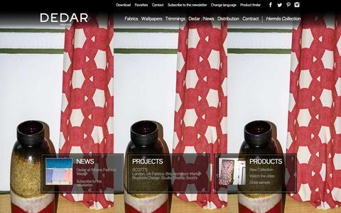 Screenshot of Home Page dedar.com - Homefabrics, Wallpapers and Trimmings | Dedar Milano - captured Sept. 30, 2014