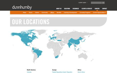Our Locations | dunnhumby