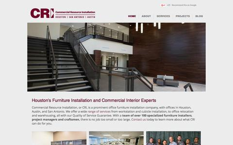 Screenshot of Home Page commercialresourceinstallation.com - Commercial Resource Installation | Houston, TX - captured July 14, 2016