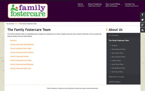 Screenshot of Team Page familyfostercare.co.uk - The Family Fostercare Team - captured Sept. 30, 2014