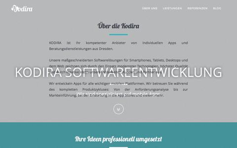 Screenshot of Home Page kodira.de - KODIRA Softwareentwicklung - captured Nov. 27, 2016