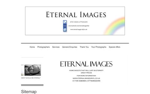 Screenshot of Site Map Page eternal-images-rhyl.co.uk - Professional mobile photography in Rhyl and the North Wales area - captured Oct. 2, 2014