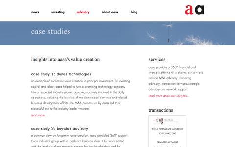 Screenshot of Case Studies Page aasa.com - aasa – case studies - captured Feb. 5, 2016