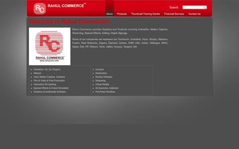 Screenshot of About Page rahulcom.com - Welcome to Rahul Commerce! | Rahul Commerce - captured Feb. 26, 2016