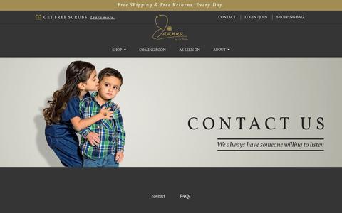 Screenshot of Contact Page jaanuu.com - Help  - Jaanuu - captured Oct. 6, 2014