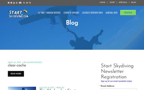 Screenshot of Blog startskydiving.com - Skydiving Blog | Tandem Skydiving Blog | Start Skydiving - captured Sept. 21, 2018