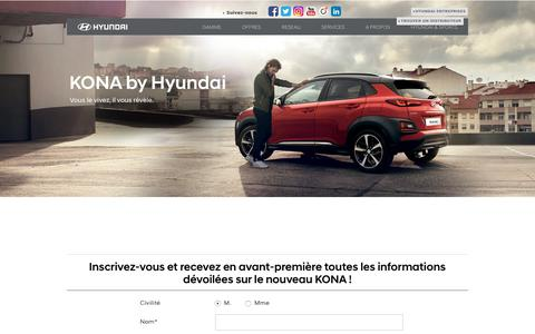 Hyundai KONA : Le nouveau Crossover SUV urbain - Hyundai France