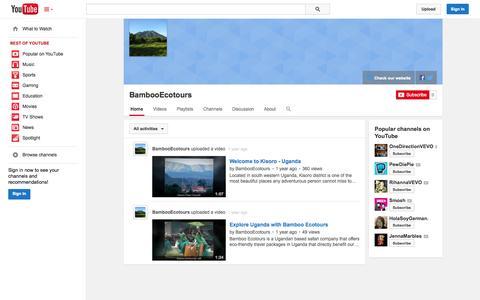 Screenshot of YouTube Page youtube.com - BambooEcotours  - YouTube - captured Oct. 23, 2014