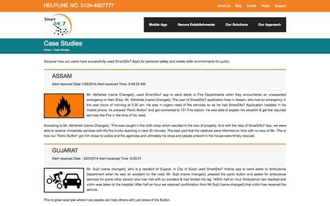 Screenshot of Case Studies Page smart24x7.com - Case Studies   Smart24x7 - captured Oct. 26, 2014