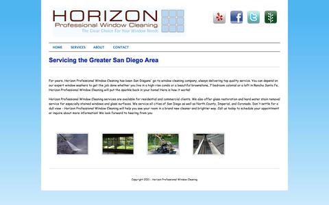 Screenshot of About Page sdprowindowcleaning.com - Horizon Professional Window Cleaners - captured Oct. 3, 2014
