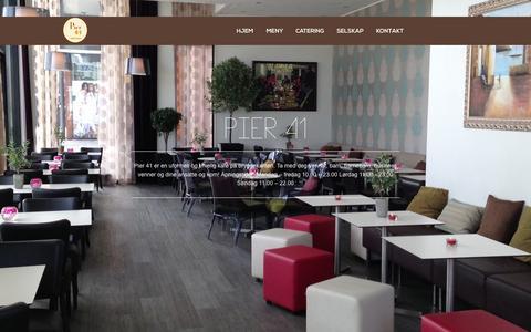 Screenshot of Home Page pier41.no - Pier 41 - Cafe & Bar - captured Oct. 2, 2014