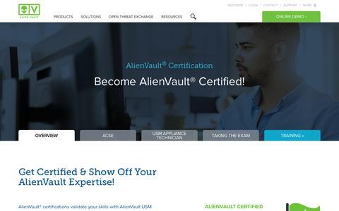 Certification | AlienVault