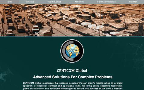 Screenshot of Home Page centcomglobal.com - CENTCOM Global - captured July 19, 2017