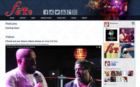 Screenshot of Press Page fetemusic.com - Media - captured Sept. 30, 2014