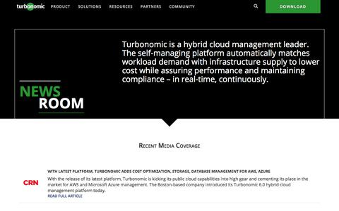 Newsroom - Turbonomic
