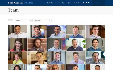 Team - Bain Capital Ventures