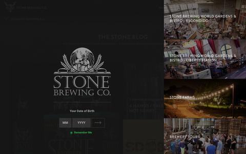 Screenshot of Blog stonebrewing.com - Blog | Stone Brewing Co. - captured Nov. 20, 2015