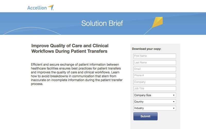 Improve Quality of Care and Clinical Workflows During Patient Transfers, Solution Brief from Accellion