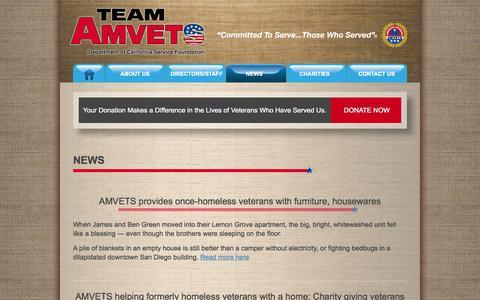 Screenshot of Press Page teamamvets.com - News - Team AMVETS - captured Oct. 4, 2014