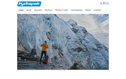 Screenshot of Home Page hydrapak.com - Hydrapak - captured Sept. 19, 2015