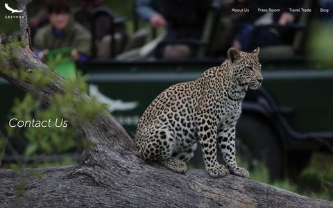 Screenshot of Contact Page andbeyond.com - Contact Us | Travel to Africa, Asia and South America | andBeyond - captured Nov. 6, 2018
