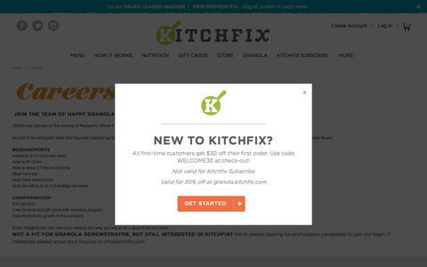 Screenshot of Jobs Page kitchfix.com - Kitchfix Foods -  Careers  - Kitchfix - captured Aug. 9, 2016