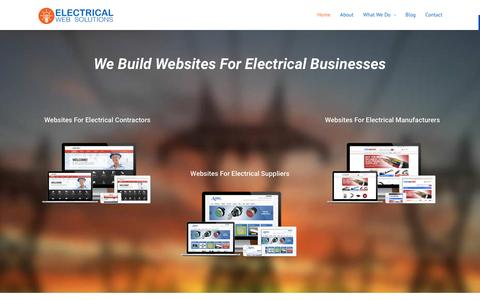 Screenshot of Home Page electricalwebsolutions.com - Websites For Electricians, Contractors & Electrical Suppliers - captured March 16, 2016