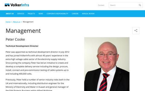 Screenshot of Team Page volkerinfra.co.uk - Management         -     VolkerInfra - captured Oct. 22, 2018