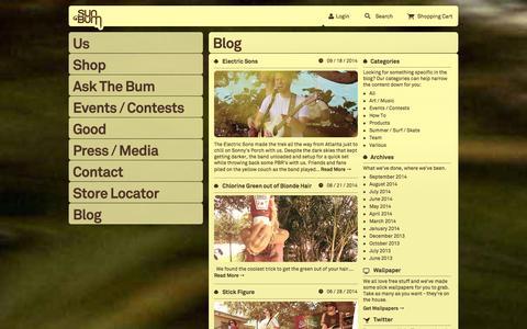 Screenshot of Blog trustthebum.com - Sun Bum ® / Blog - captured Sept. 22, 2014