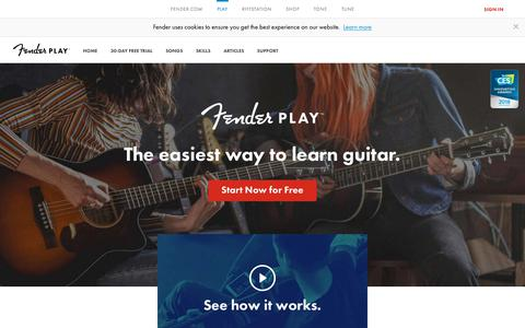 Screenshot of Signup Page fender.com - Learn How to Play Guitar Online | Guitar Lessons from Fender Play - captured Nov. 16, 2017