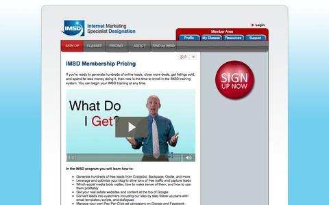 Screenshot of Pricing Page imsd.net - IMSD Membership Pricing - captured Aug. 2, 2015