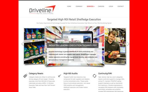 Screenshot of Services Page drivelineretail.com - DRIVELINE RETAIL - DRIVING YOUR BUSINESS - captured Sept. 22, 2018