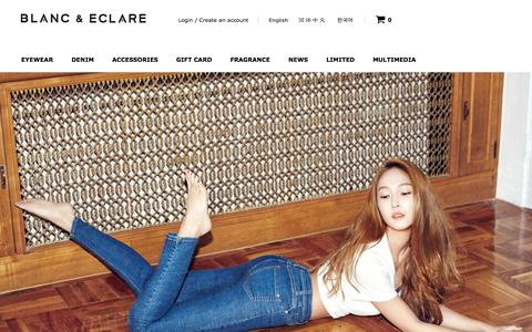 Screenshot of Home Page blancgroup.com - BLANC & ECLARE - captured Oct. 9, 2015