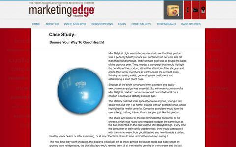 Screenshot of Case Studies Page marketingedgemagazine.com - MarketingEdge - captured Oct. 27, 2014