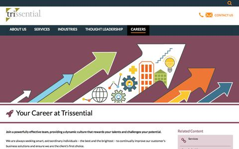 Screenshot of Jobs Page trissential.com - Trissential Careers - captured Jan. 18, 2018