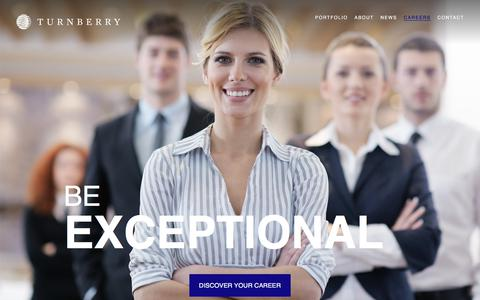 Screenshot of Jobs Page turnberry.com - Careers | Turnberry Associates - captured Nov. 12, 2017