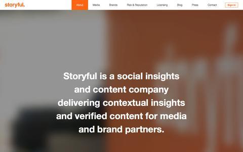 Screenshot of About Page storyful.com - - Storyful. - captured April 30, 2018