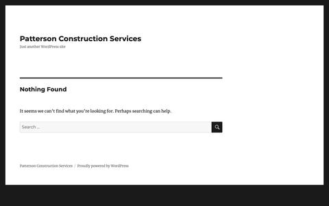 Screenshot of Home Page pattersoncon.com - Patterson Construction Services - captured Sept. 27, 2018