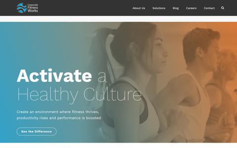 Screenshot of Home Page corporatefitnessworks.com - Corporate Wellness & Fitness Programs | Corporate Fitness Works - captured May 12, 2018