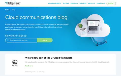 Screenshot of Blog telappliant.com - Cloud Communications Blog   Telappliant - captured June 13, 2017